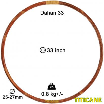 TITICANE Standard Hula Hoop [ Dahan 33 inch ] [ Rattan / Rotan ]