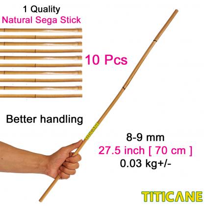 TITICANE [ 10 Pcs ] Natural Sega Stick 1st Quality [ 70 Cm ] [ Rattan / Rotan ]  [ Kanak-Kanak ]