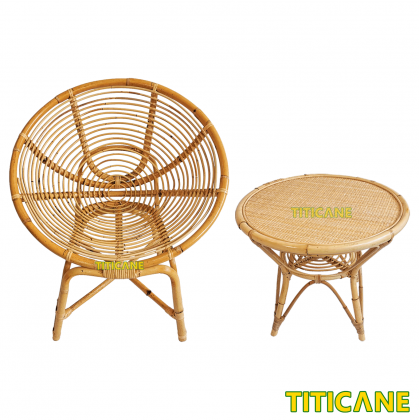 TITICANE Coin Chair [ Kerusi Rotan ] [ Rattan Mantang ]