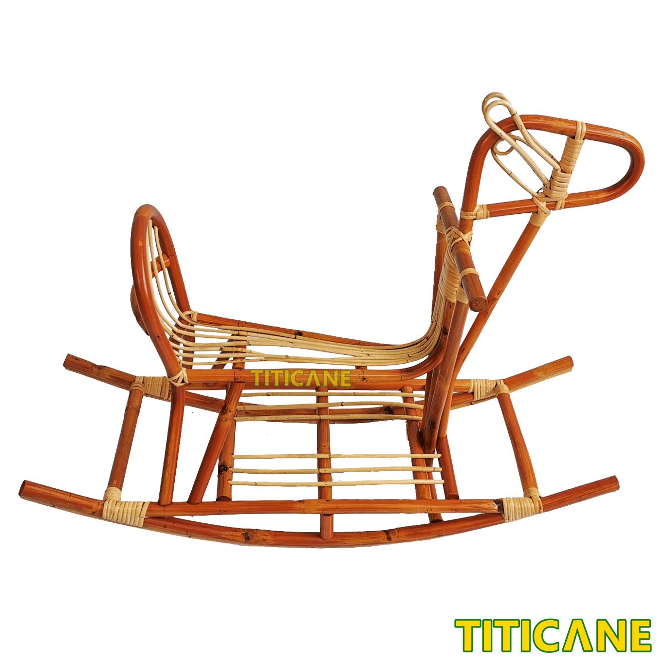 Titicane Rocking Horse Kuda Rotan Rattan Dahan