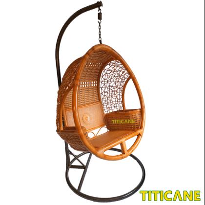 Crown Swing Basket [ Chia Series ] [ Buaian Rotan ] [ Rattan Manau ]
