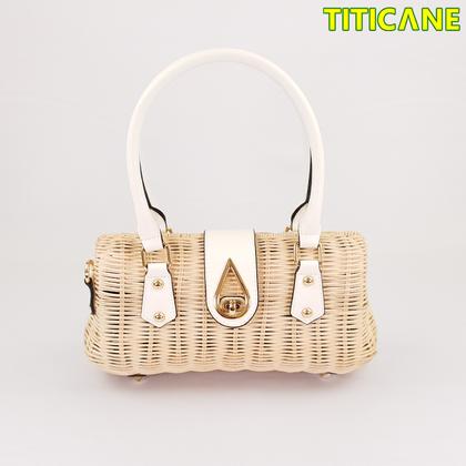 White Lily Handicraft Bag [ Rattan / Rotan ]