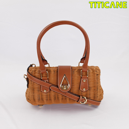 TITICANE Brown Lily Handicraft Bag [ Rattan / Rotan ]