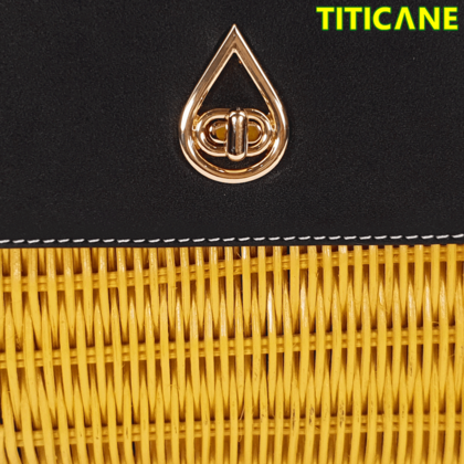 TITICANE Yellow Tulip Handicraft Bag [ Rattan / Rotan ]