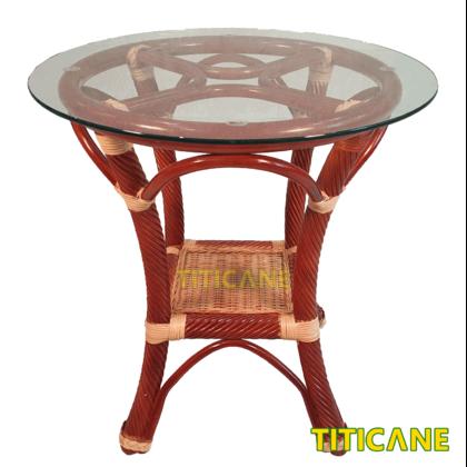 TITICANE Chia Coin Rattan Coffee Table [ Meja Kopi Rotan ]