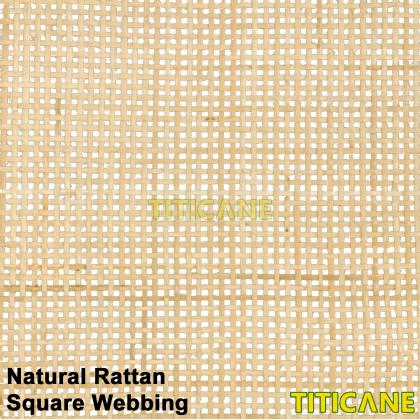 TITICANE Natural Rattan Square Webbing [ 18 Inch ] [ 1 Roll ]
