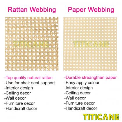 TITICANE Strengthen Paper Square Webbing [ 18 inch ] [ 2 Feet Per Unit ]