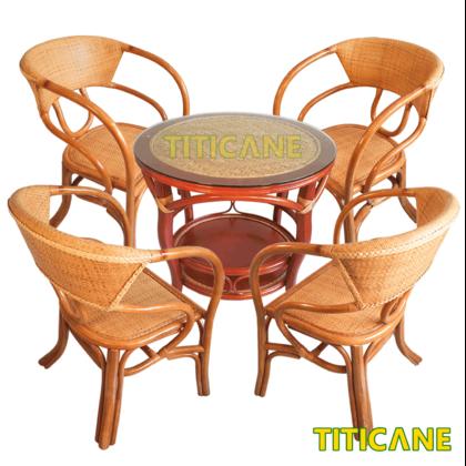 TITICANE Signature Rattan Table [ Meja Rotan ]