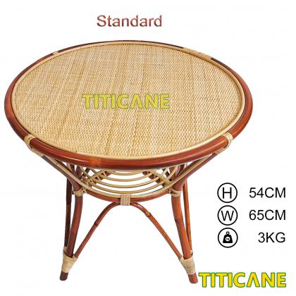 TITICANE Close Webbing Table [ Meja Rotan Anyaman ] [ Rattan Dahan ]