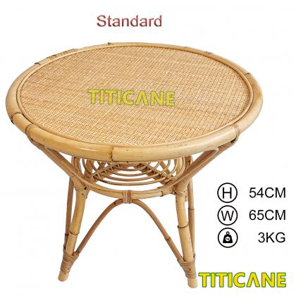 TITICANE Close Webbing Table [ Meja Rotan Anyaman ] [ Rattan Mantang ]
