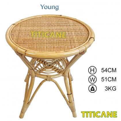TITICANE Young Close Webbing Table [ Meja Rotan Anyaman ] [ Rattan Mantang ]