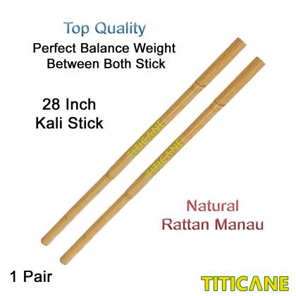 TITICANE Kali Stick [ 28 Inch ] [ Manau Natural ] [ 1 Pair ] [ Rattan / Rotan ]