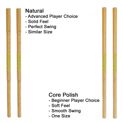 TITICANE Kali Stick [ 28 Inch ] [ Manau Core Polish ] [ 1 Pair ] [ Rattan / Rotan ]