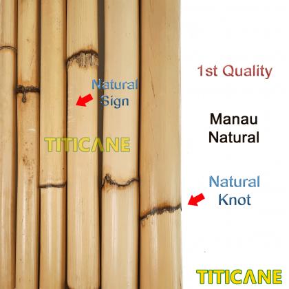 TITICANE Manau Stick [ 36 INCH ] [ Natural 18-23mm ] [ Rattan / Rotan ]