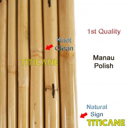 TITICANE Manau Stick [ 36 INCH ] [ Natural 28-32mm ] [ Rattan / Rotan ]