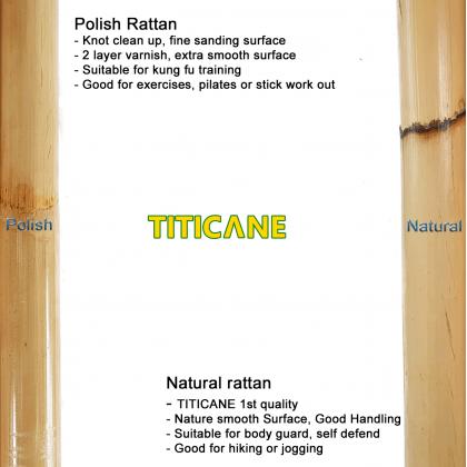 TITICANE Manau Stick [ 54 INCH ] [ Natural 24-27mm ] [ Rattan / Rotan ]