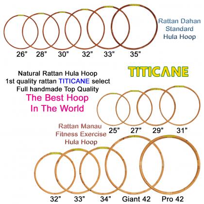 TITICANE Fitness Exercise Hula Hoop [ Manau 29 inch ] [ Rattan / Rotan ]