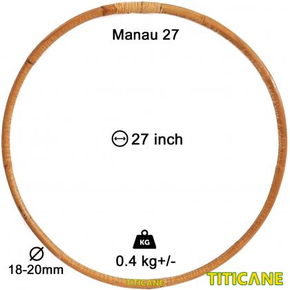 TITICANE Fitness Exercise Hula Hoop [ Manau 27 inch ] [ Rattan / Rotan ]