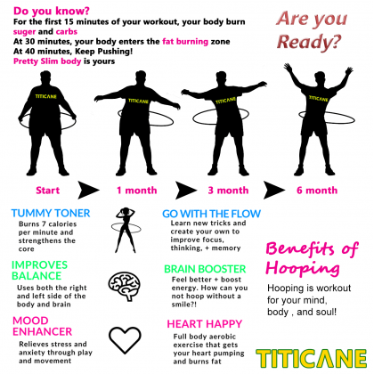 TITICANE Fitness Exercise Hula Hoop [ Manau 32 inch ] [ Rattan / Rotan ]