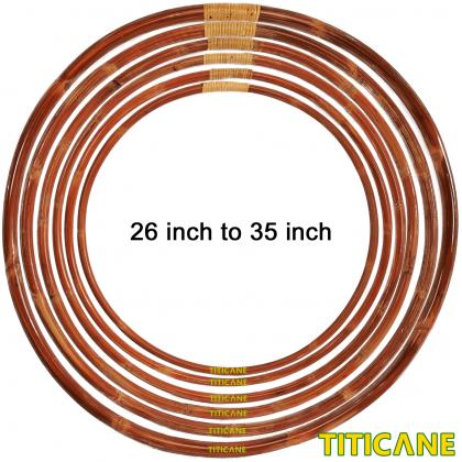 TITICANE Standard Hula Hoop [ Dahan 35 inch ] [ Rattan / Rotan ]
