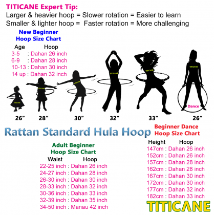 TITICANE Standard Hula Hoop [ Dahan 32 inch ] [ Rattan / Rotan ]