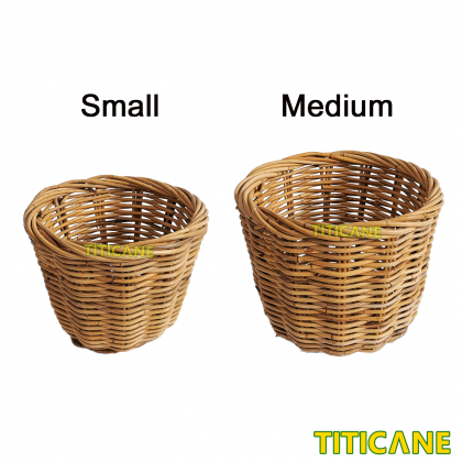 TITICANE Rattan Round Basket [ Medium ] [ Bakul Rotan ]