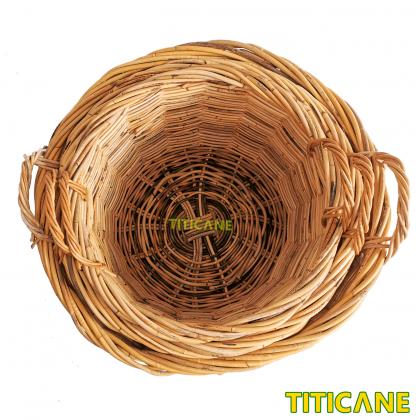 TITICANE Rattan Round Basket With Handle [ Medium ] [ Bakul Rotan ]