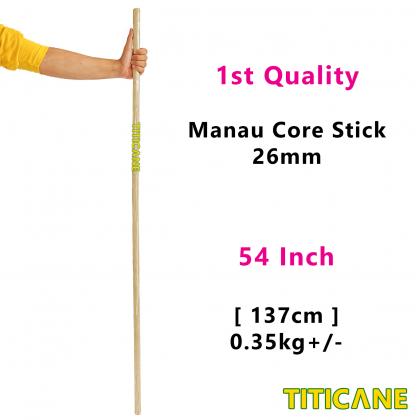TITICANE Manau Core Stick [ 54 INCH ] [ 26mm ] [ Rattan / Rotan ]