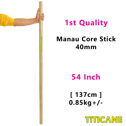 TITICANE Manau Core Stick [ 54 INCH ] [ 40mm ] [ Rattan / Rotan ]